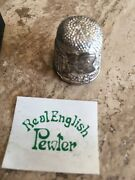 Exquisite Pewter Charles And Diana Royal Wedding Commemorative Thimble