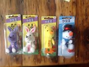 New Pez Easter Bunnies, Baby Chick And Snowman Key Chain Dispensers