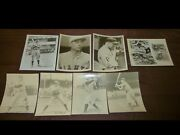 1950and039s Baseball Photos Of Vintage Players And Jesse Owens Pic And Y.a. Tittle Auto