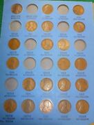 1909-1940 Lincoln Penny Collection Page 1 Whitman Number 1 Folder No Folder