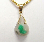 Colombian Emerald Rock With Crystal 11.20 Cts Pendant 18k Gold Natural Muzo Mine
