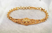 Handmade Traditional Jewelry 22 K Yellow Gold Chain Bracelet Gifting Ideas Her