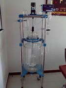 New 20l Lab Jacketed Chemical Reactor Glass Reaction Kettle Digital Display N