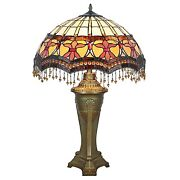 Tf10017 - Victorian Parlor -style Stained Glass Table Lamp