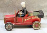Vintage Open Car Made In Japan Tin Toy Batteries Operated Working Toy Open Jeep