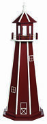 Amish Made Poly Garden Lighthouse - Standard - Cherrywood And White - Size Options