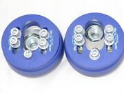 Camber Plates For Vw Polo 86c , 80 Adjustable Blue