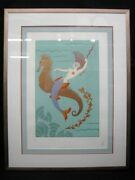 Water, Signed And Numbered Erte Serigraph 1986 Four Elements Series 86/175