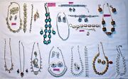 Vtg Costume Jewelry Lot Brooches Earrings Necklaces Bracelets
