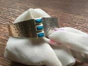 Chan Luu Nwt Sterling Silver Thick Semiprecious Turquoise Cuff Bracelet
