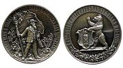 Swiss 1895 Shooting Medal Cantons St. Gallen Silver Proof Rrr Mintage 800