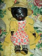 Extremely Rare Large French Antique Dark Leather Toddler Doll Sweet Features