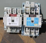 Used Cutler Hammer Reversing Contactor Cn15sn3 Size 5 + C25kne3200 Size 2