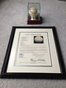 Mickey Mantle Autographed Ball Jsa X22335 Ny Yankees Framed Letter Loa And Case