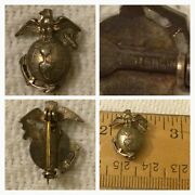 Sterling Silver Usmc Military Pin- Rare-pre Owned