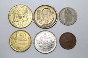Old Collection Set Of 6 Coins Mixed Lots From Year 1951 To 1988 Collectible Gift