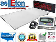 Floor Scale With Printer And Scoreboard 10000 Lbs X 1 Lb Pallet Size 48 X 96