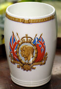 Commemorative King George And Queen Mary Silver Jubillee Beaker - Presented