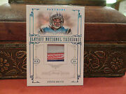 National Treasures Laundry Tag Jersey Panthers Steve Smith 6/6 2008