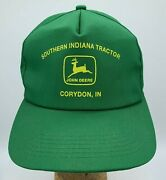 Vtg K Products Usa Southern Indiana Tractor John Deere Corydon In Snapback Hat