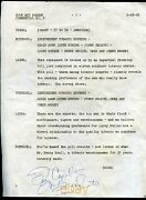 Frank Sinatra Signed Your Hit Parade Radio Script Page Autograph 1948 Signature