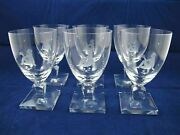 Set Of 6 Water Glasses Goblets Nude Grapes 1420 By Orrefors Nils Landberg Flaws