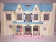 Fisher Price 1993 Loving Family Dream Dollhouse Tons Of Extras Look 6364