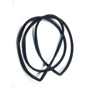 Windshield Rubber Wetherstrip Seal For Chrome Trim Fits 59-60 Gm Cars A B C-body