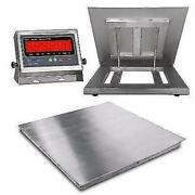 Floor Scale Stainless Steel And Indicator 4andrsquo X 4andrsquo48andrdquo X 48andrdquo 2500 Lbs X 0.5 Lb