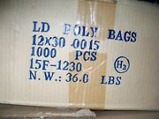 Ld Clear Lay Flat Poly Bags 1.5 Mil 12x30x.0015 Large Bag 1000 Count