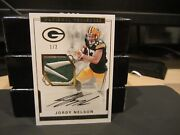 National Treasures Autograph Jersey Packers Jordy Nelson 1/2 2016