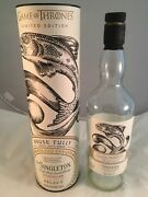 Game Of Thrones House Tully Scotch Whisky The Singleton -limited Edition- Empty