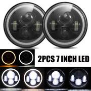 2x 7inch Round 150w Total Cree Led Headlights Hi/lo 97-18 Land Rover 1983 - 1997