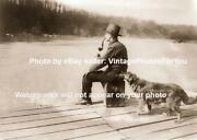 Old Antique Vintage Prohibition Agent Alcohol Detecting Sniffing Dog Flask Photo