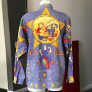 Gianni Versace Cotton Menand039s Shirt Western Blue Jeans Print Size 50 From Fw 1993