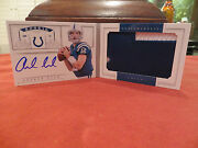 National Treasures Autograph Jersey Booklet Rookie Auto Andrew Luck 01/49 2012