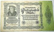 Reichsbanknote 50000 Mark Germany 1922 Banknote B11086890 Collectors Money
