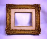 Antique Style Vintage Hand Carved Frame Mirror, Miniature, Print