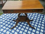 Mid Century Modern Table. Lyre Or Harp Console Table 37 X 20 X 28