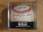Sparky Anderson Joe Nuxhall 7 Multi Signed Autographed Rawlings Clean Ball Psa