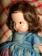 Nancy Ann Storybook Jointed Legs Bisque 56 Colonial Dame Molded Socks Doll