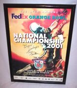 Sooners Bob Stoops Bobby Bowden Autographed 2001 National Championship Framed