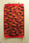 Mexican Wool Rug Hand Woven W Natural Dyes By Master Weavers Diamond Design