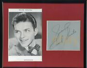 Frank Sinatra Bold Signed Page Circa 1942-3 Vintage Autograph Framed Signature