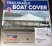 Carverandreg Cover For Outboard Aluminum V-hull Boats W/ Walk-thru Windshield - 17and0396
