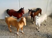 Vintage Collection Set Of Four Beswick Horses Figurines