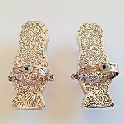 Vintage Wonderful 93 Gr. Sterling Silver AnСient Shoes And Napkin Rings Handmade