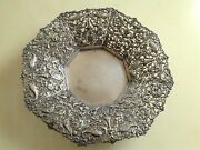 Vintage Wonderful 623 Gr. Sterling Silver Centerpiece With Lace Ornament
