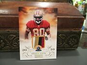 National Treasures Hall Of Fame 2010 Jersey 49ers Jerry Rice 17/25 2013