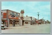 Gatineau Quebec—main Street Iga Grocery Store—rexall Drugs—coca Cola Cpa 1950s